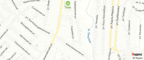 Садовая улица на карте Баймака с номерами домов