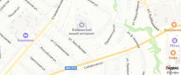 Аэродромная улица на карте Баймака с номерами домов