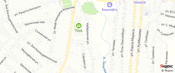 Набережная улица на карте Баймака с номерами домов