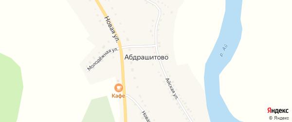 Молодежная улица на карте деревни Абдрашитово с номерами домов