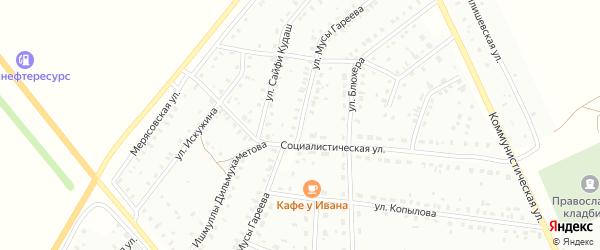Улица М.Гареева на карте Баймака с номерами домов