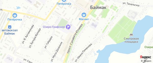 Проспект С.Юлаева на карте Баймака с номерами домов