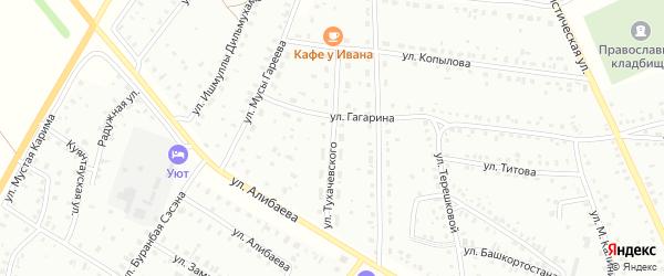 Улица Тухачевского на карте Баймака с номерами домов