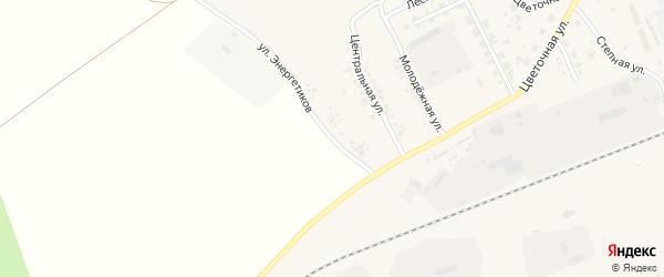Улица Энергетиков на карте села Железнодорожного с номерами домов