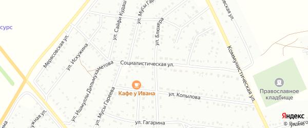 Социалистическая улица на карте Баймака с номерами домов