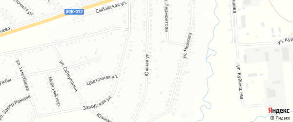 Южная улица на карте Баймака с номерами домов