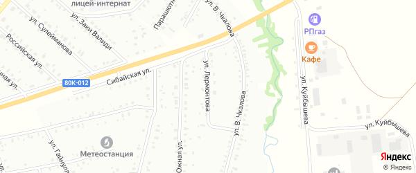 Улица М.Лермонтова на карте Баймака с номерами домов