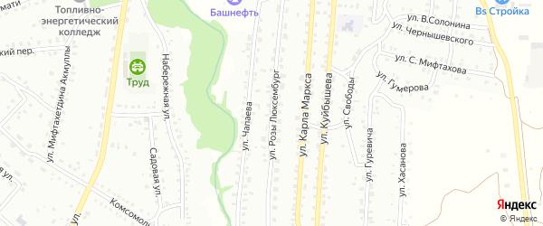 Улица Р.Люксембург на карте Баймака с номерами домов
