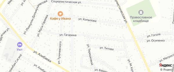Улица Ю.Гагарина на карте Баймака с номерами домов