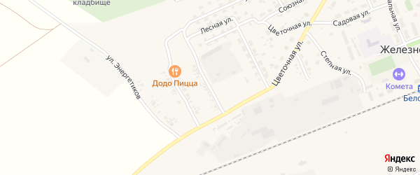 Молодежная улица на карте села Железнодорожного с номерами домов