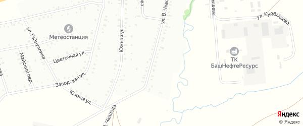 Улица В.Чкалова на карте Баймака с номерами домов
