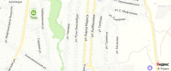 Улица К.Маркса на карте Баймака с номерами домов