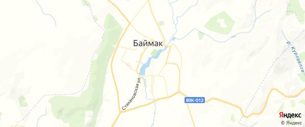 Карта Баймака с районами, улицами и номерами домов