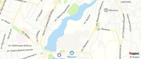 Территория район коллективных гаражей на карте Баймака с номерами домов