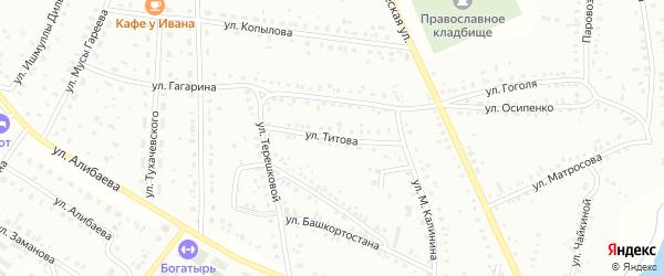 Улица Г.Титова на карте Баймака с номерами домов