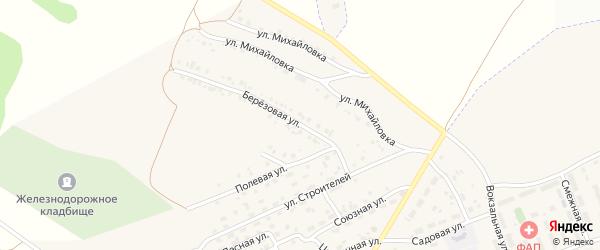 Березовая улица на карте села Железнодорожного с номерами домов