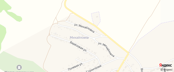 Улица Михайловка на карте села Железнодорожного с номерами домов