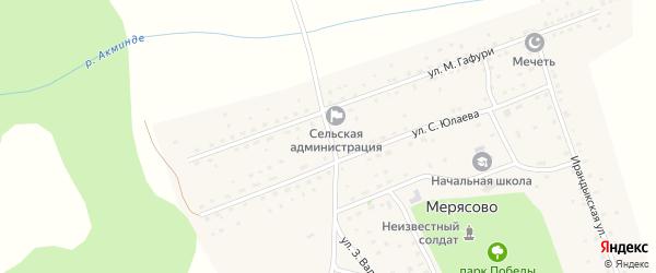 Улица А.Игибаева на карте села Мерясово с номерами домов
