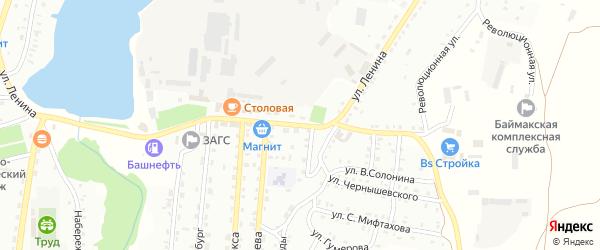 Улица Ленина на карте Баймака с номерами домов