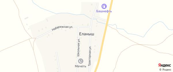 Набережная улица на карте деревни Еланыша с номерами домов