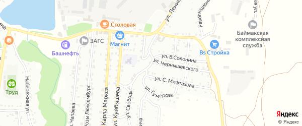 Улица Свободы на карте Баймака с номерами домов