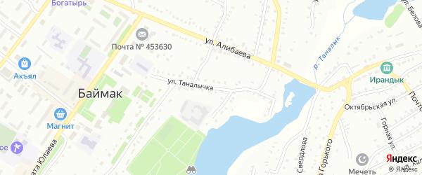 Улица Таналычка на карте Баймака с номерами домов