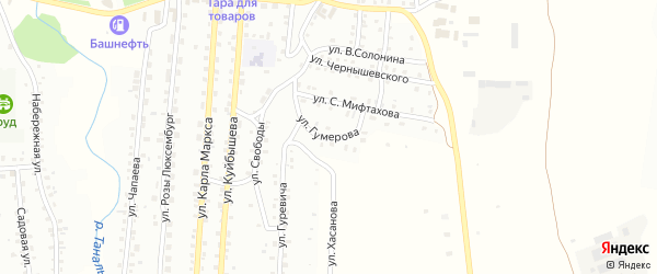 Улица И.Гумерова на карте Баймака с номерами домов