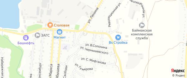 Улица Каширина на карте Баймака с номерами домов