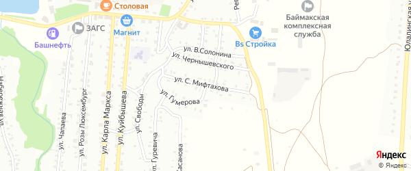 Улица С.Мифтахова на карте Баймака с номерами домов