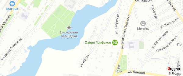 Улица Д.Журавлева на карте Баймака с номерами домов