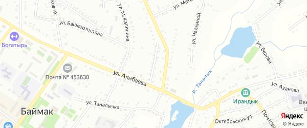 Улица Т.Миннигулова на карте Баймака с номерами домов