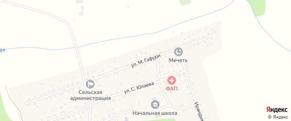 Улица М.Гафури на карте села Мерясово с номерами домов