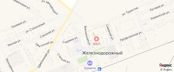 Вокзальная улица на карте села Железнодорожного с номерами домов