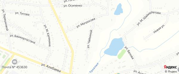 Улица Л.Чайкиной на карте Баймака с номерами домов
