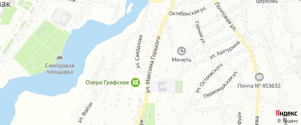 Улица М.Горького на карте Баймака с номерами домов