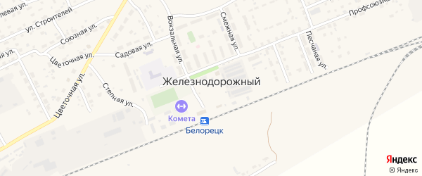 Сад Автомобилист на карте села Железнодорожного с номерами домов