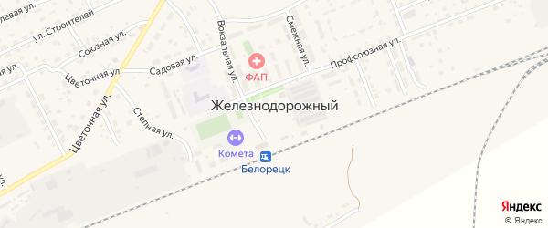 Сад Дружба на карте села Железнодорожного с номерами домов