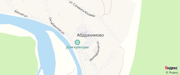 Октябрьская улица на карте деревни Абдрахимово с номерами домов
