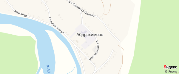 Улица Красное Знамя на карте деревни Абдрахимово с номерами домов