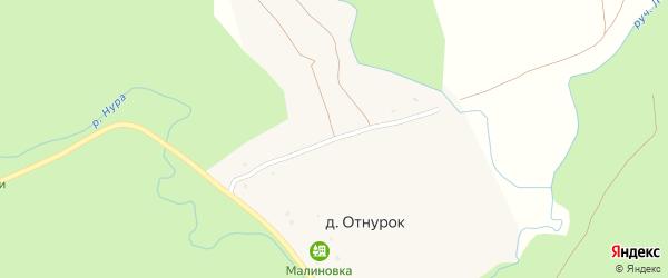 Молодежная улица на карте деревни Отнурка с номерами домов