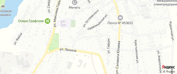 Ветеринарная улица на карте Баймака с номерами домов