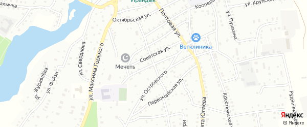 Октябрьская улица на карте Баймака с номерами домов