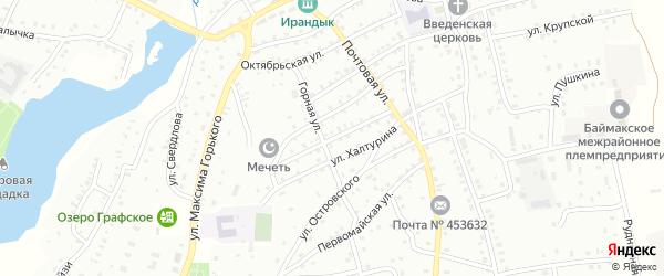 Советская улица на карте Баймака с номерами домов