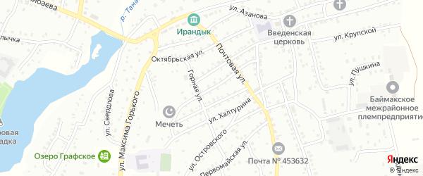 Пролетарская улица на карте Баймака с номерами домов