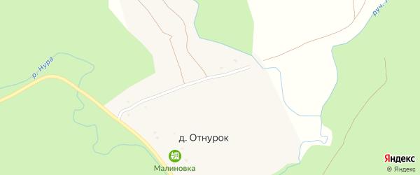 Улица С.Юлаева на карте деревни Отнурка с номерами домов