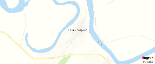 Карта деревни Ельгильдино в Башкортостане с улицами и номерами домов