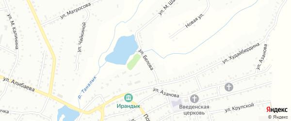 Улица Ф.Белова на карте Баймака с номерами домов