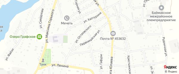 Первомайская улица на карте Баймака с номерами домов