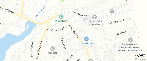 Почтовая улица на карте Баймака с номерами домов