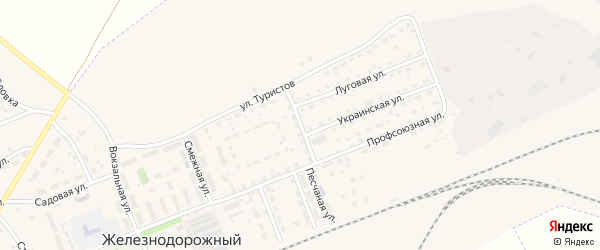 Диспетчерская улица на карте села Железнодорожного с номерами домов